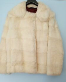 VINTAGE REAL FUR JACKET APPROX SIZE 10/12