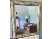 Attractive Floral Patterened Frame Bevelled Mirror Measurements 21in/53cm x 25in/63cm