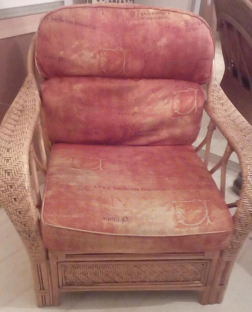 Large Rattan Chairs.