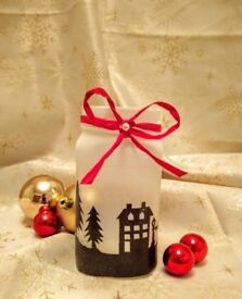 """Candle Holder, Vase, Table Centerpiece, Latern """"Christmas Light"""""""