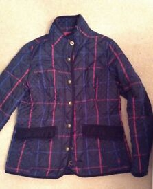 Joules check jacket 14