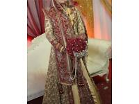Indian wedding bride outfit dress