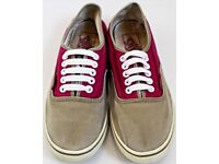 Women's Size 4 Vans Trainers - Pink and Grey
