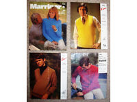 4 vintage 1960s/70s knitting patterns (3 men's, 1 'his & hers'). £3 ovno the lot or £1 each