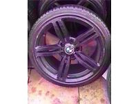 "Bmw m6 18"" black single alloy wheel can post"