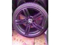 "Bmw m6 18"" black single alloy wheel can post"