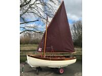 Sailing boat 3m fully epoxyed Wooden Clinker Sailing Boat