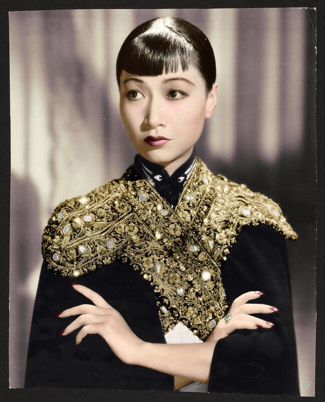 Anna May Wong Black And Golden Kimono  8x10 Photo Print