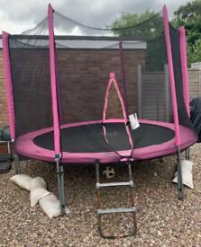 Atlantic 10ft trampoline with safety net tent and weather cover