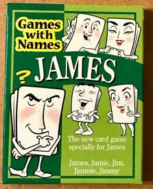 Games With Names James. Card Game Specially For James. Complete And VGC.