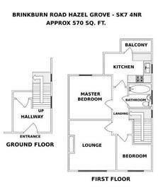 2 bedroom flat in Brinkburn Road, Hazel Grove, SK7
