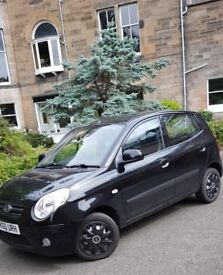KIA PICANTO 1.1L 64bhp Black 5Dr LOW MILAGE 2100£ Stunning condition