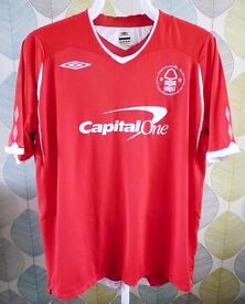 UMBRO:NOTTINGHAM NOTTS FOREST HOME SHIRT 2008-2009:CUP BADGE 79/80: SIZE XXL