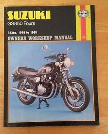 Suzuki GS850 Fours Haynes Manual