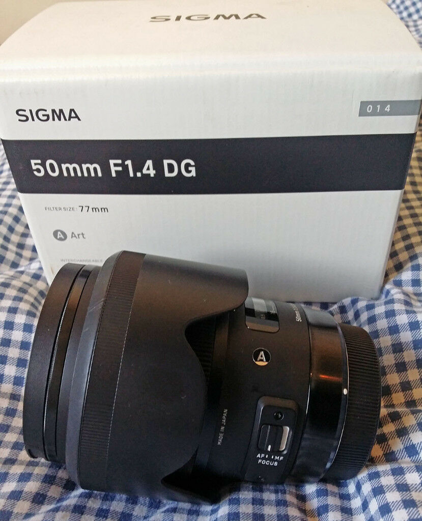 Sigma 50mm F 14 Dg Hsm Art Lens Canon Eos Fit Mint Condition For