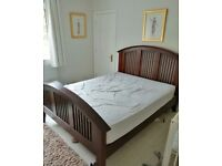 King size mahogany bed and matching Dresser