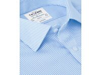 [Mint] TM Lewin Non-Iron Lilac Bengal Stripe Slim Fit Shirt (16 Collar, 35 Sleeve)