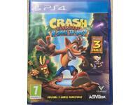 SONY PLAYSTATION 4 PS4 GAME CRASH BANDICOOT N.SANE TRILOGY