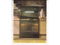 lovely double canon oven gas cooker that has been used daily for many years.