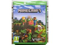 BRAND NEW & SEALED - Minecraft Xbox One Game [incl, Explorers Pack] UNWANTED