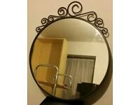 ikea ekne round mirror. 50cm dia. In very good condition.