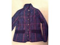 Joules jacket 14 navy check