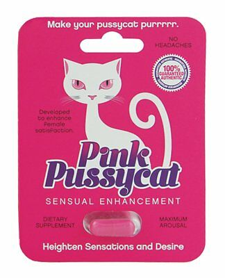 Pink Pussycat Women Sexual Enhancement Increase Libido (1 PILL) + FAST (Female Libido Enhancer)