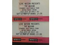 Weeknd tickets for Newcastle radio arena