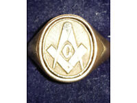 9 Carat Gold Swivel Head Masonic Ring
