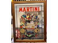 Martini bar mirror (vintage)