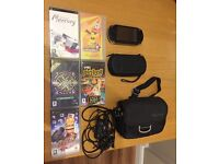 Sony PSP Bundle, Cases, Cables and 5 Games