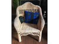 Wicker bedroom or conservatory chair