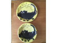 Whittard of Chelsea cat bowl and plate set