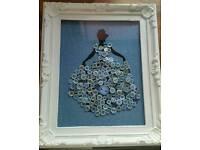 Custom princess themed button art frames