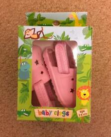 BNIB Pink Baby Girl Clogs Age 3-6 Months