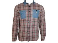 Polo Ralph Lauren Denim & Supply Men's Long Sleeved Double pocket Shirt Checks D75