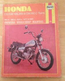 Honda CD/CM 185, 200 & CM 250 C Twins Haynes