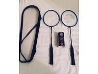 2 Advantage Badminton Rackets (includes three shuttlecocks)