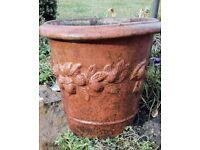 Decorative terracotta pot