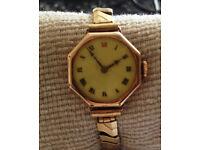 Vintage ladies Arthur George Rendell 9ct Gold Watch circa 1910