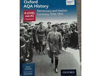 AQA HISTORY: DEMOCRACY AND NAZISM GERMANY 1918-1945