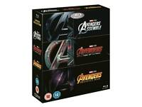 Avengers 3 Movie Collection Blu Ray