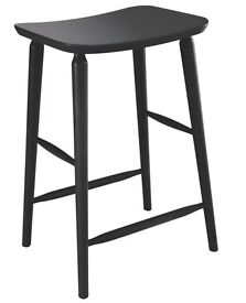 Set of four Habitat Talia solid Beech kitchen stools - Brand new in sealed boxes.