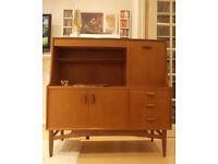 Vintage Gplan Mid-Century Teak Retro Sideboard, Drinks Cabinet Highboard Funky 60's 70's Danish