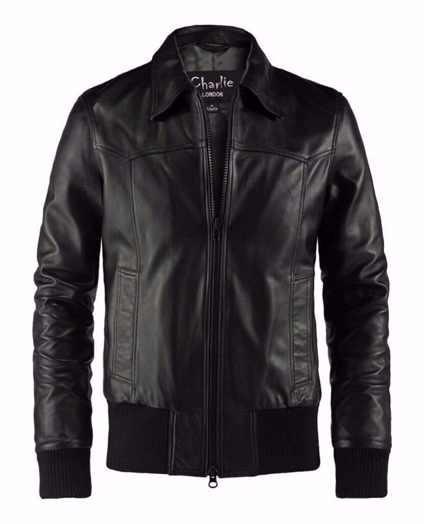 The Deal Black Leather JacketCharlie LONDONin Reading, BerkshireGumtree - Charlie LONDON designed this classic vintage leather jacket we call The Deal. These leather jackets feature the expected high quality cotton waistband and cuffs, but the premium black leather add a dark mysterious vibe. Is he a good guy or part of...