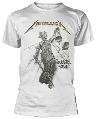 Metallica 'And Justice For All' (White) T-Shirt  - NEW & OFFICIAL!