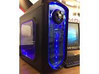 Brand New Quad Core Gaming PC Full Setup Win 10 8GB Ram 128GBSSD LED Monitor Gaming Keyboard & Mouse