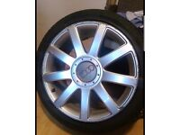 "Genuine Audi 18"" alloy wheels"
