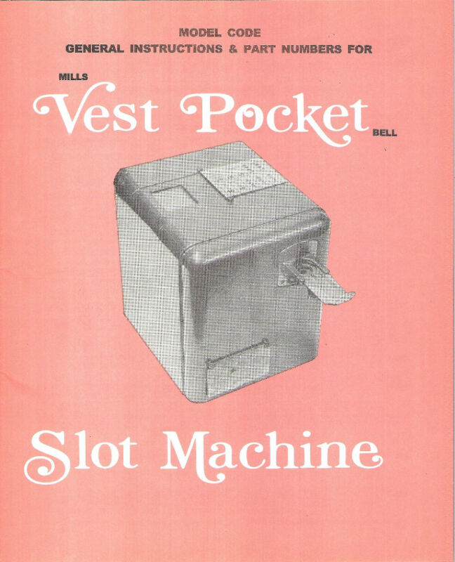VEST POCKET MANUEL VEST POCKET SLOT MACHINE MANUAL ANTIQUE SLOT 16 page