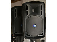 RCF Art 325a Active PA Speakers - With covers and stands